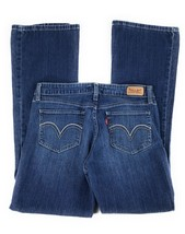 Levi's 518 Superlow Bootcut Stretch Distressed Mid Rise Blue Jeans Women... - $22.76