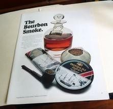 "1971 Borkum Riff Bourbon Smoke   Original Print Ad 8.5 x 11"" man cave art - $3.00"
