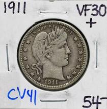 1911 Silver Barber Quarter Dollar 25¢ Coin Lot# CV41