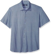 Stone Rose Men's Contemporary Fit Sportshirt, Blue, 5/XL - $37.74