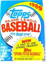 ( 6 - Packs ) 1989 Topps  Baseball Cards The Real Ones NIP NEW Factory S... - $6.44
