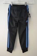 Adidas Little Boys Tricot Jogger Pants Black w/ Blue Stripes Sz 4 - $18.70