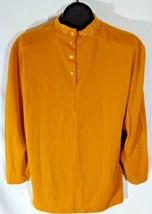 Liz Baker Womens Gold Shirt Size 1X Made in USA B1 - $19.95