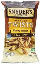 Snyder's of Hanover Braided Twists Pretzels Honey Wheat - $10.99