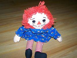 """18"""" Raggedy Ann Rag Doll Plush 1987 Playskool Blue Floral Dress Stuffed EUC - $16.00"""