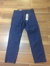 Levis Battalion Pants Blue 29X30 Linen Blend Straight Leg Nwt - $21.03