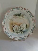 "Johnson Bros England Dodecagon 10 1/4"" Plate Handpainted Magnolias Signe... - $14.85"