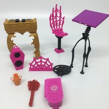 Mixed Lot Monster High Party Lounge Replacement  Dj Booth Speaker-Skelet... - $9.95