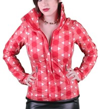 Bench UK Urbanwear Womens BBQ Barbecue Star Red Jacket w Hood BLKA1552 NWT image 1