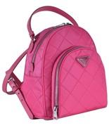 NEW Prada 1BZ066 Zaino Fuxia Pink Quilted Tessuto Impuntu Nylon Backpack... - $1,016.10