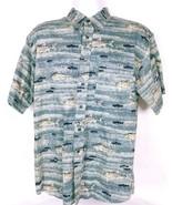 Pendleton Men's Casual Shirt Large Fishing Button Front Short Sleeve 100... - $36.63