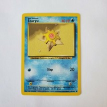 Pokemon Base Set 1999 Staryu Card LP 65/102 TCG Trading Card Game Unlimited - $1.19