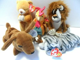Lot Of 5 Rare Beanie Babies With Tags...see photos - $37.38