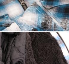 Tony Hawk Men's Casual Flannel Zip Up Plaid Sherpa Hoodie Lightweight Jacket image 10