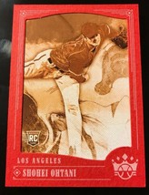 2018 Panini Diamond Kings Shohei Ohtani Red Frame Sepia SSP RC Rookie B1... - $33.85
