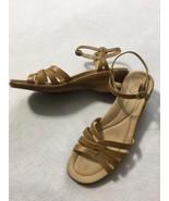 Dansko EUR 41 US 10.5 11 Tan Wedge Heel Ankle Strap Floral Embossed Sand... - $29.99