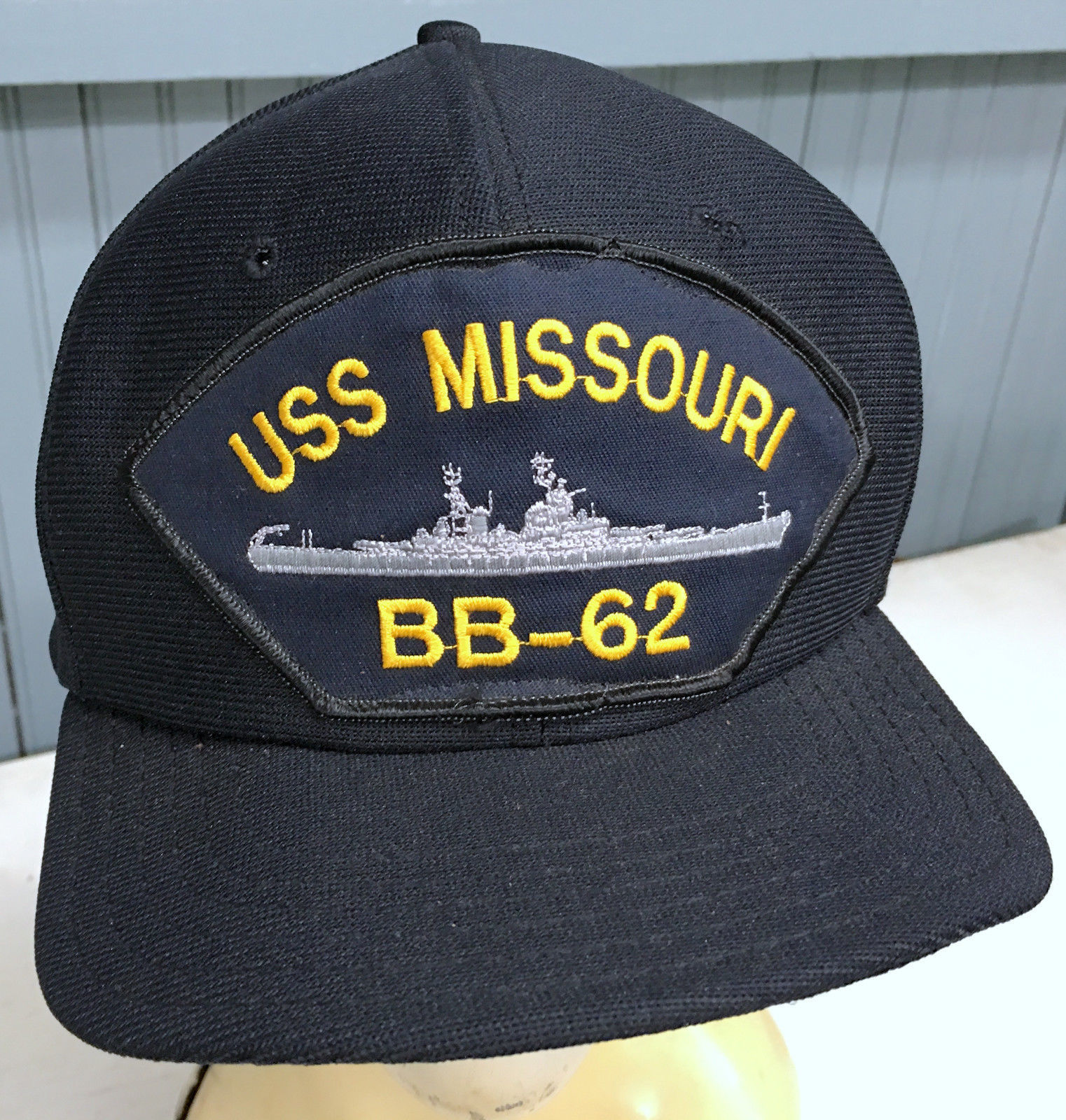 Primary image for USS Missouri Battleship Navy VTG Made in USA Snapback Baseball Cap Hat ERROR