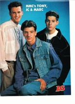 JC Chasez Tony Lucca Marc teen magazine pinup clipping Mickey Mouse Club Nsync
