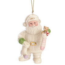 Lenox 2017 Annual Santa Figurine Ornament Stockings Teddy Bear Christmas... - $65.00