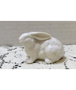 Vintage Miniature White Rabbit Figurine Porcelain Bunny Farm & Country A... - $6.50