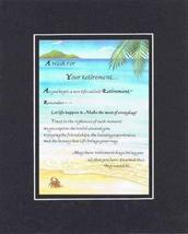 A Wish For Your Retirement Poem on 11 x 14 inches Double Beveled Matting (Black  - $15.79