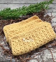 Handmade Dish Cloths Yellow Crochet Kitchen Dishcloths Eco Friendly Set ... - $18.75