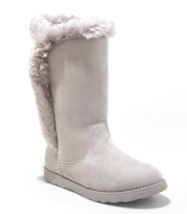 Cat & Jack Girls' Gray Microsuede Hart Faux Fur Shearling Winter Snow Boots NEW