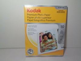 Kodak New Premium Photo Paper Instant Dry 50 Sheets Hp Dell Canon Epson Lexmark - $28.71