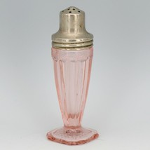Jeanette Pink Depression Glass Adam Single Shaker - Correct Lid Salt - No Damage