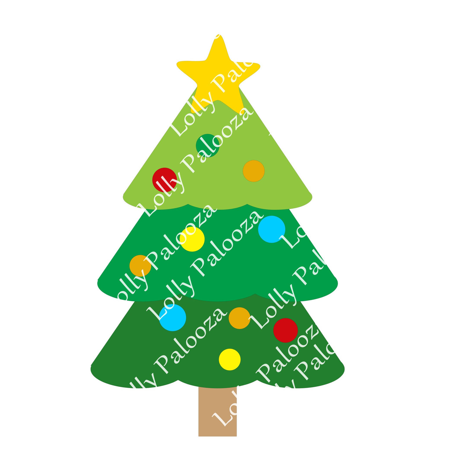 Layered Christmas Tree DIGITAL File. Instant Download.  Svg, Pdf, Jpg files.  No