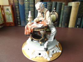 Italian Capodimonte Porcelain Figurine -- The Philatalist - Tyche Tosca ... - $200.00