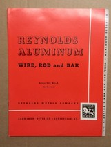 1940s Reynolds Aluminum Catalog Brochures Tubing Shapes Wire Industrial - $10.00