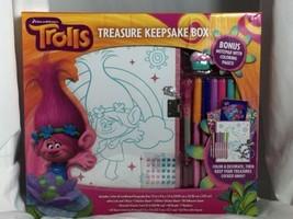 DreamWorks TROLLS Treasure Keepsake Box Craft Coloring Activity Kit New - $19.58