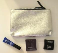IPSY Silver Cosmetic Bag with Makeup Bundle: Bronzer - Mascara - Eyeshadow - $32.81