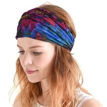 Casualbox Tie-Dye Headband Bandana Boho Hippie Retro Flower psychedelic ... - $15.58