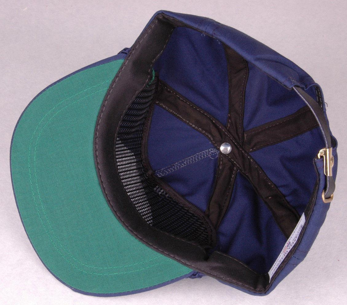 Vtg Community First Hat-Blue-Leather Strapback-Rope Bill-Arvada CO USA-Cash Bank