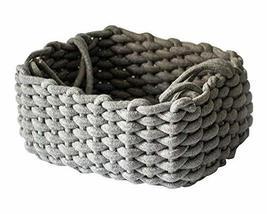 Black Temptation Cotton Rope Woven Storage Basket Household Storage Cont... - £22.92 GBP