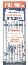 1950 s FLORIDA SOUTH ATTRACTIONS MIAMI AREA MONKEY JUNGLE DONNINS ARMS M... - $8.91