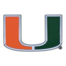 Fanmats NCAA Miami Hurricanes Diecast 3D Color Emblem Car Truck RV  2-4 Day Del. - $10.64