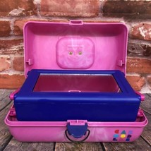 VTG Caboodles Make Up Carrying Case #2620 2-Tiered Mirrored Marbled Pink Purple  - $45.00