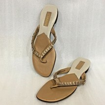 Liz Claiborne Flip-Flops Sandals Size 10M Thongs Beige - $22.52