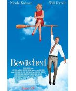 Bewitched Movie Poster - 27x40 - Will Farrell   Nicole Kidman - $19.00