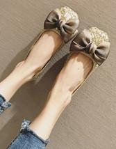 Ivory Wedding Shoes/ Lace Bridal Shoes/Champagne Shoes/Golden Lace Flats... - $38.00