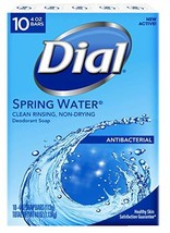 Dial Antibacterial Deodorant Bar Soap, Spring Water, 4-Ounce Bars, 10 Co... - $43.18