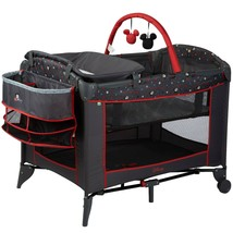 Playpen Portable Baby Crib Play Yard Mickey Mouse Travel Bassinet Infant... - $155.37