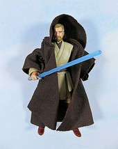 "Star Wars 30th Obi-Wan Kenobi Jedi Master W Robe Saber 3.75"" Action Figure - $14.65"