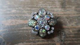 "Vintage Iridescent Rhinestone Brooch 1.5"" - $24.74"