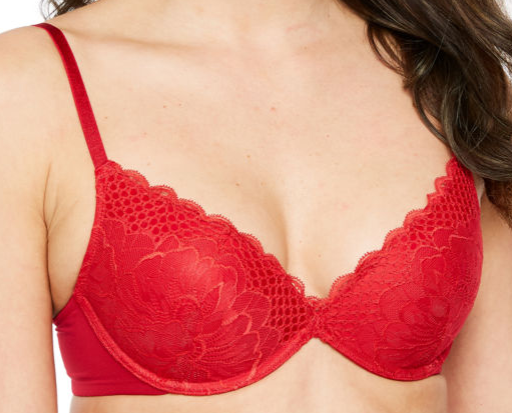 Ambrielle Kiss Front Pushup Bra Red Size 38D