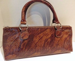 Primeware Serpentes Collection Insulated Wine Clutch Brown Moc Croc Lunch - $19.79