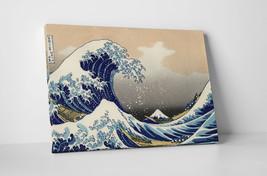 Japanese Art Katsushika Hokusai Great Wave off Kanagawa Gallery Wrapped Canvas - $42.55+